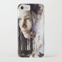 katniss iPhone & iPod Cases featuring katniss by phoebe-designs
