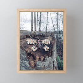 Butterfly in the woods Framed Mini Art Print