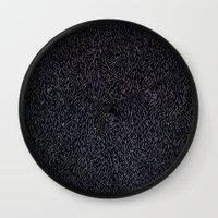 furry Wall Clocks featuring Furry Wood by Ben Bauchau