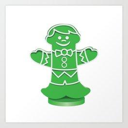 Green Boardgame Candy Art Print