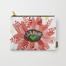 Just Breath Red Carry-All Pouch