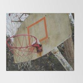 Retro Basketball Hoop Throw Blanket