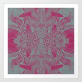 Feminine Devine in Fuchsia Pink and Powder Mint Art Print