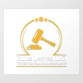 D&D - Rules Lawyer Art Print