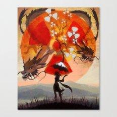 umbrellaliensunshine: atomic dragonspring Canvas Print