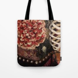 Between Two Mirrors Tote Bag