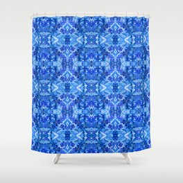 Gentle Clarity Blue Floral Shower Curtain