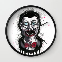 The Horror of Billy the Doll Wall Clock