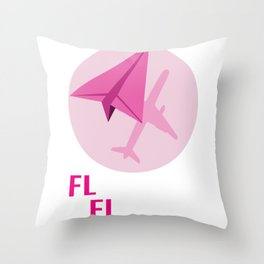 Flying Girl Florida Pilot Or Stewardess Gift Throw Pillow