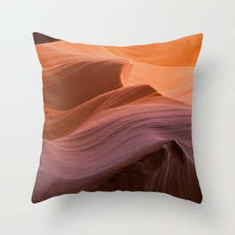 Sunset Waves Throw Pillow