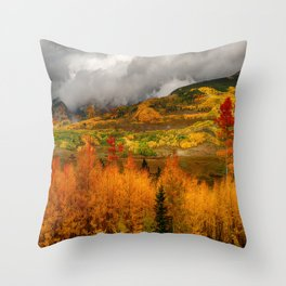 Autumn Scene at Crested Butte, Colorado Throw Pillow