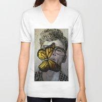 james franco V-neck T-shirts featuring Dave Franco by Christelle Walker