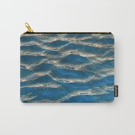 Aqua - blue abstract Carry-All Pouch