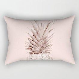 Pink Gold Pineapple Rectangular Pillow