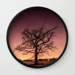 Oak Family in Field Wall Clock
