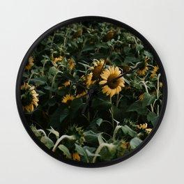 Sunflowers // Wall Clock