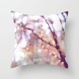 Glitter in the air Throw Pillow