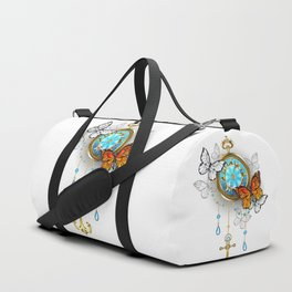 Compass with Butterflies Duffle Bag