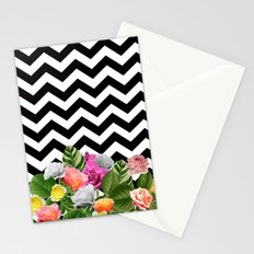 Chevron Floral Stationery Cards