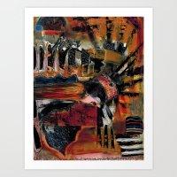 Disintegration 1 Art Print