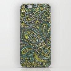 Blue safari iPhone Skin