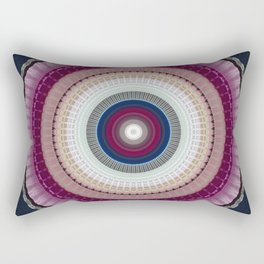 Decorative Wine Dark Blue Mandala Rectangular Pillow