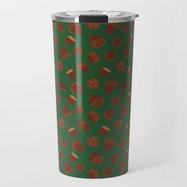 Acorns on Green Travel Mug