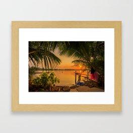 Sunset in Hoi An Vietnam Framed Art Print