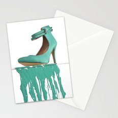 Dripping Green Shoe Stationery Cards