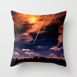 Swabian gravel lake Throw Pillow