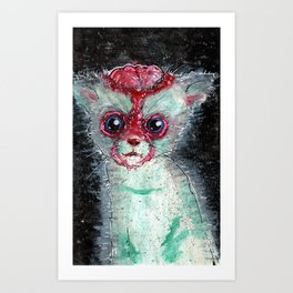 Kitty Popped Art Print