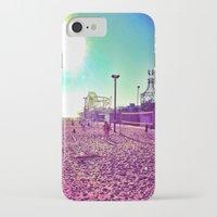 santa monica iPhone & iPod Cases featuring Santa Monica by SefoG