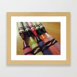 Crayon Closeup Framed Art Print