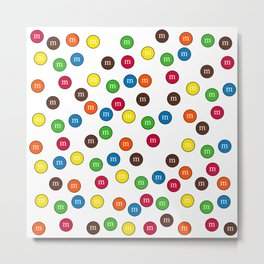 Cute Candy Chocolate Collage Metal Print