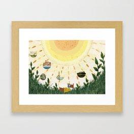 Brand new day Framed Art Print