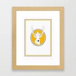 oh my deer! Framed Art Print