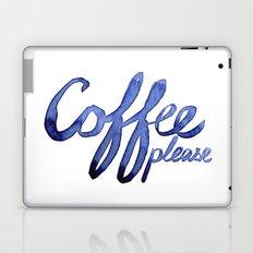 Coffee Please Drinks Caffeine Typography Coffee Lovers Laptop & iPad Skin