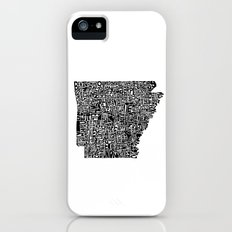 Typographic Arkansas Slim Case iPhone (5, 5s)