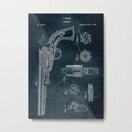 1859 - Revolver patent art Metal Print