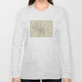 Vintage Map of Jerusalem Israel (1917) Long Sleeve T-shirt