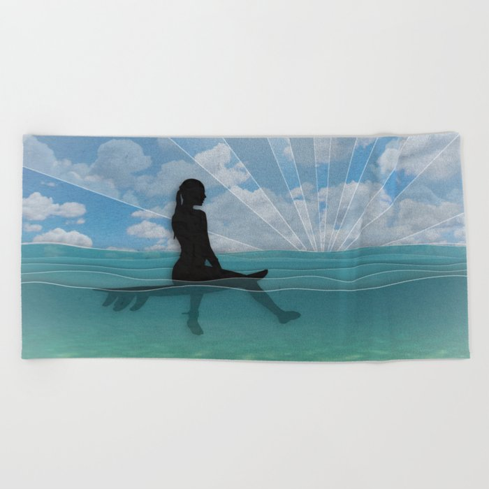 View from a Surfboard Beach Towel