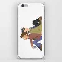 destiel iPhone & iPod Skins featuring Supernatural - Destiel [Commission] by Choco-Minto