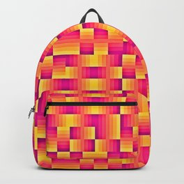 Yellow Pink Geo Pattern Backpack