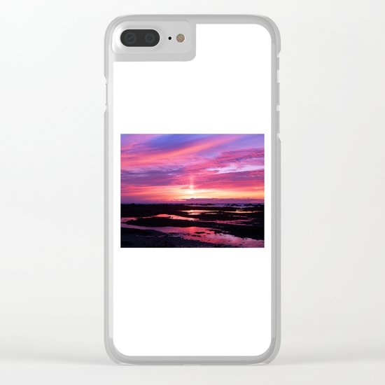 Red Haven Clear iPhone Case
