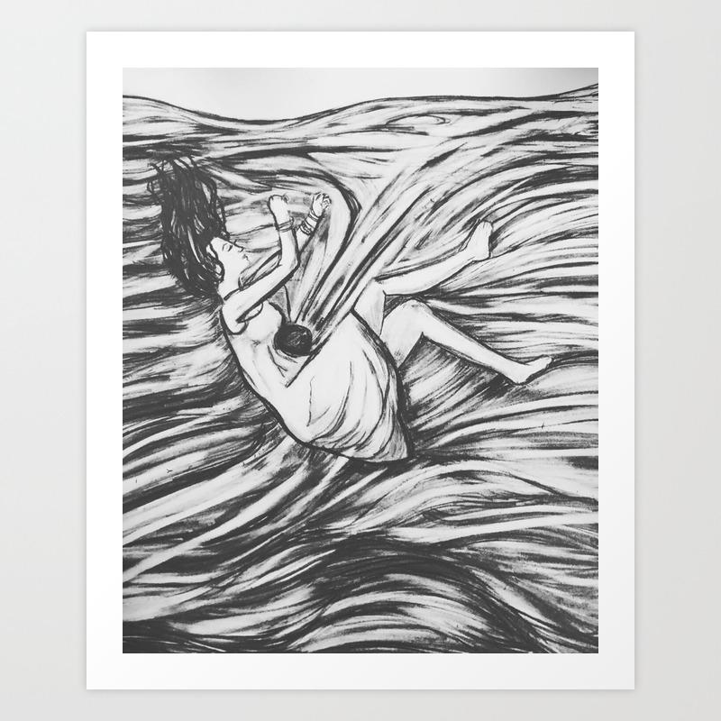Mental Health Series Anxiety Art Print By Alexaraeinspirations Society6