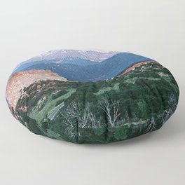 Sunrise at Garden of the Gods and Pikes Peak Floor Pillow