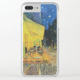 Van Gogh -  The Cafe Terrace on the Place du Forum, Arles, at Night Clear iPhone Case