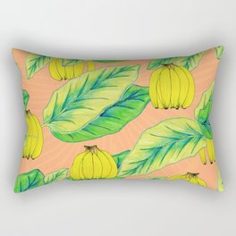 Banana Jungle - Peach Rectangular Pillow