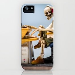 Dead at the Screen (Skeleton) iPhone Case