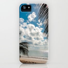 Couple at the beach iPhone Case